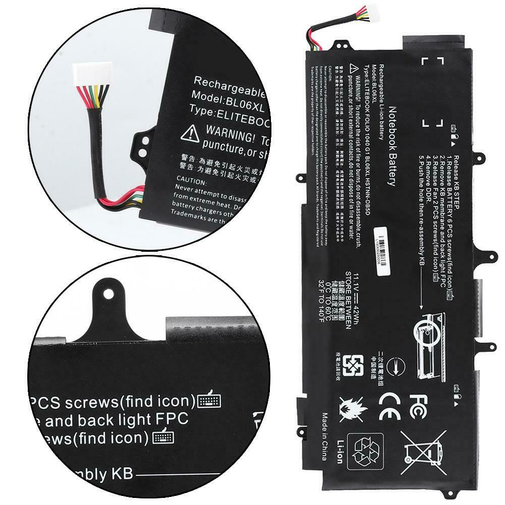 Batterie pour HP EliteBook Folio 1040 G1 G2 BL06042XL BL06XL BLO6 BLO6XL(compatible)