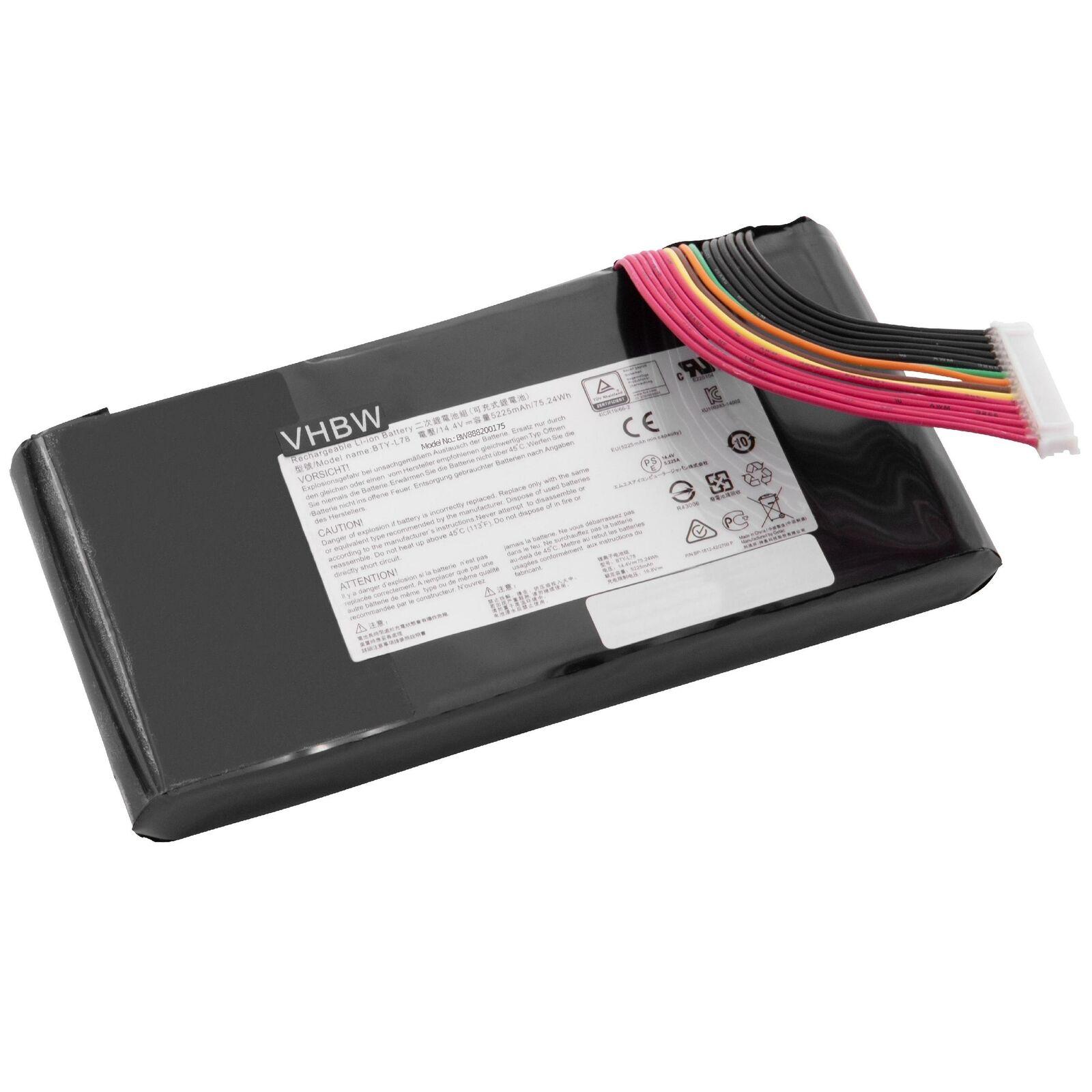 Batterie pour BTY-L78 MSI GT62 GT62VR GT62VR 6RD GT80 GT73 GT83 GT83VR GT73VR GT80S(compatible)