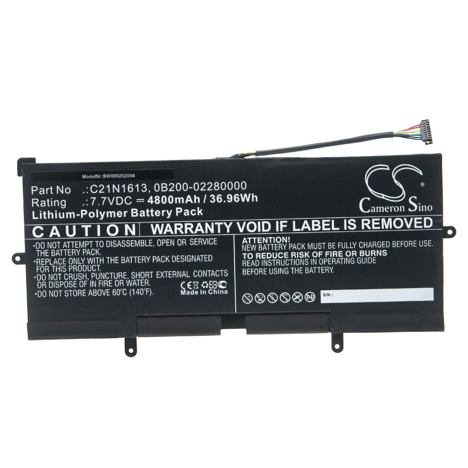Batterie pour C21N1613 ASUS Chromebook Flip C302C C21PQC5 0B200-0228000(compatible)