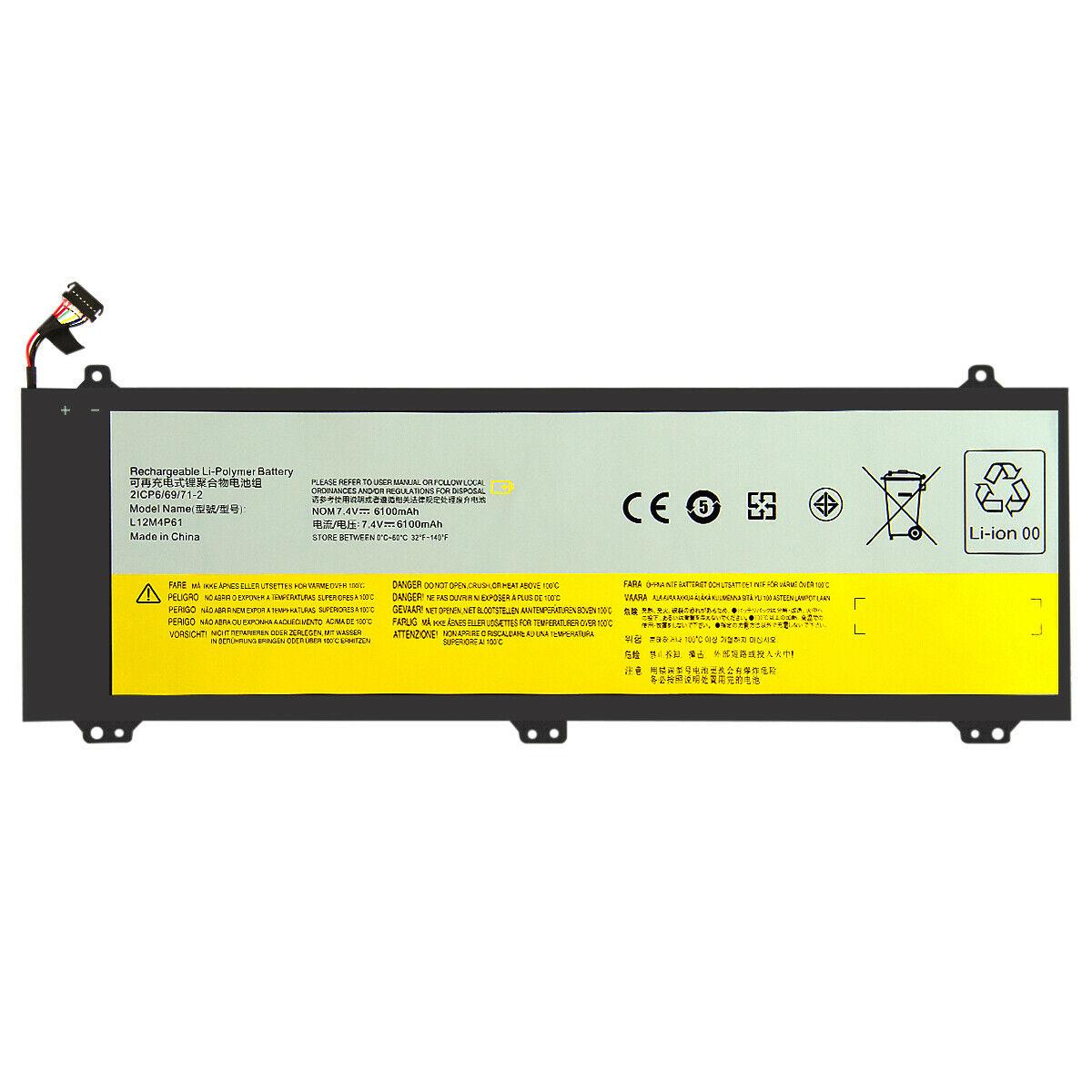 Batterie pour LENOVO 121500161 121500162 L12L4P61 L12M4P61 6100mAh(compatible)