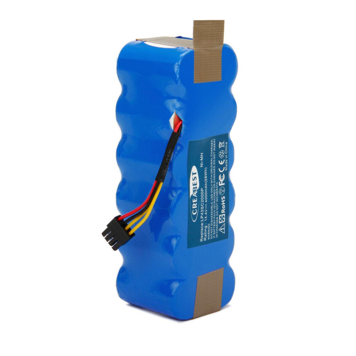 Batterie 4Ah 14.4V Ni-MH Ariete Briciola 2712 2713 2717 Dibea Cobos KK-8 X-500(compatible)
