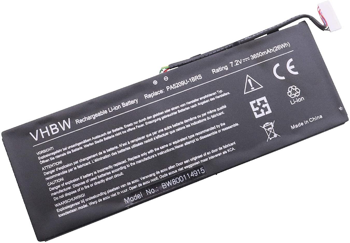 Batterie pour TOSHIBA L10W-B L15W-B L15W-B1208X L15W-B1302 P000627450(compatible)