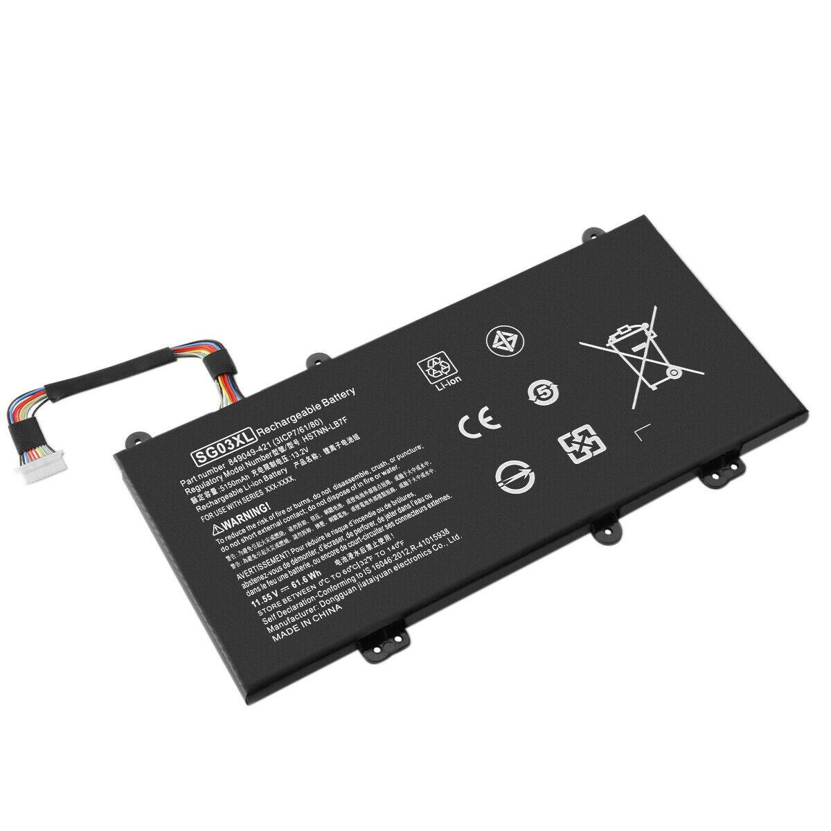 Batterie pour SG03XL TPN-I126 11.55V HP Envy 17-u011nr 17t-u000 m7-u109dx(compatible)