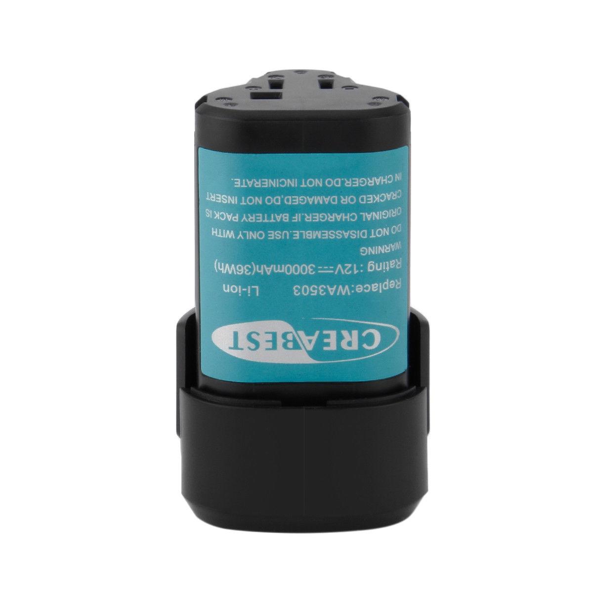 Batterie 3000mAh 12V WA3503 WA3509 Lithium Worx WX125 WU288 WX126 WX128.2(compatible)